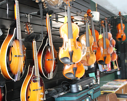 Mandolin Violin Display
